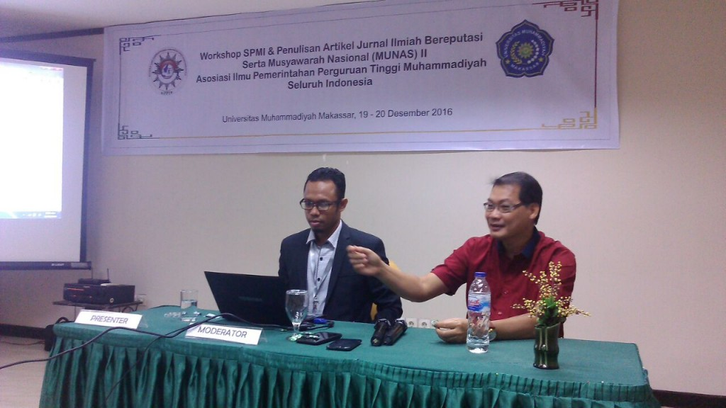 Nurmandi, a chief of AIPTM in AIPPTM's Forum in Makassar, December 20th.